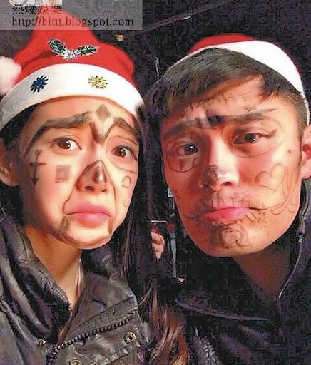 Baby和演員陳赫畫花面。