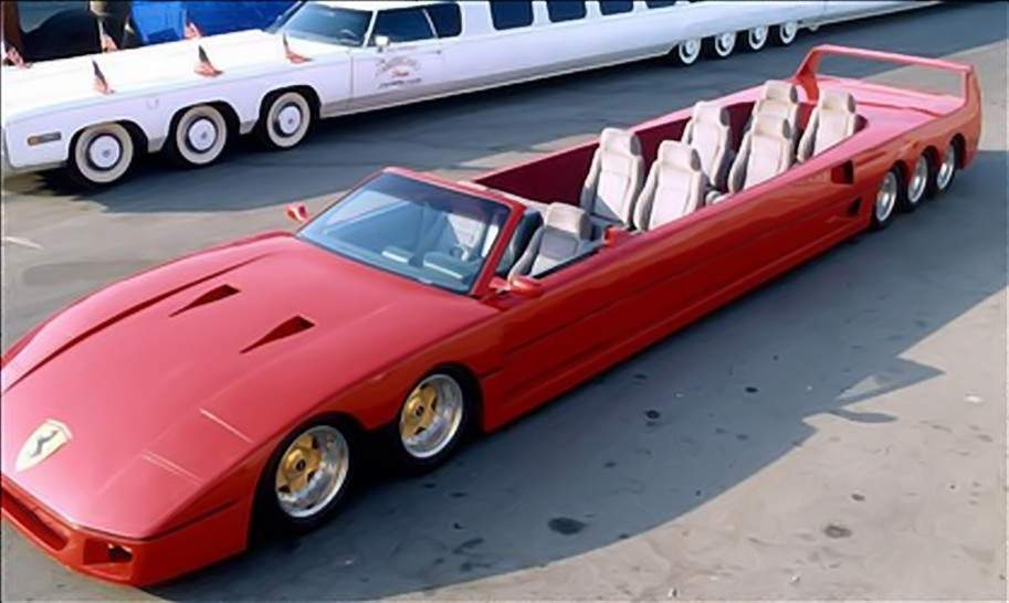 First Gullwing Stretch Limo Ferrari