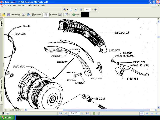 Montesa Cota 348 Parts Manual W   Detailed Exploded