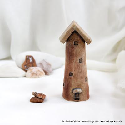 Волшебные домики в стиле Rustic от Элли Вишневской. Hand Made Ceramic and pottery Eco-Friendly Home Decor by Elly Vishnevsky.