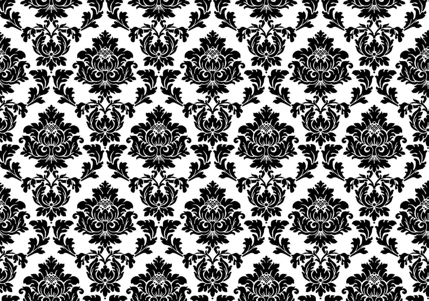 black damask wallpaper on - photo #16