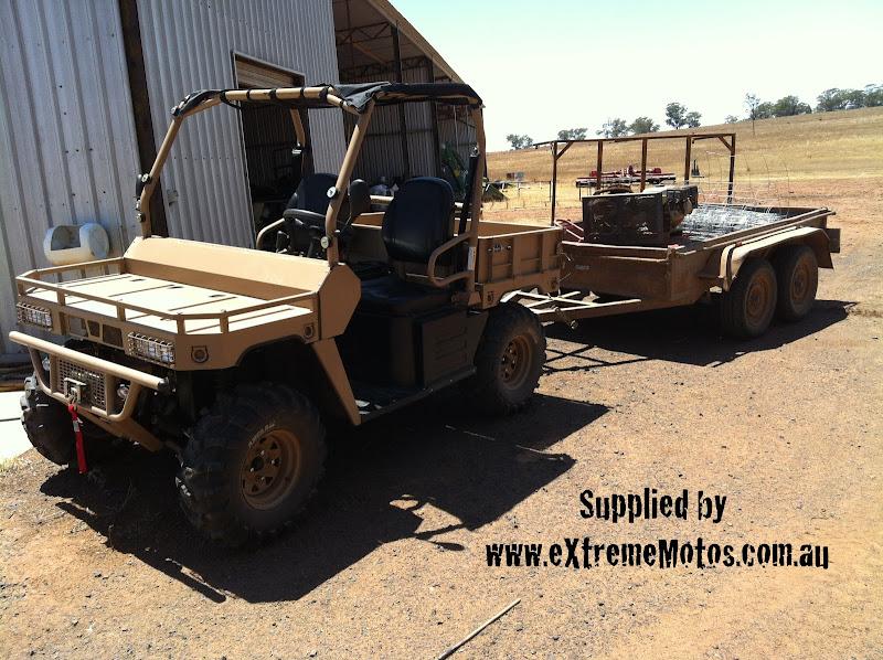 500cc Agmax Military Agricultural Farm UTV in action on Farm in Australia