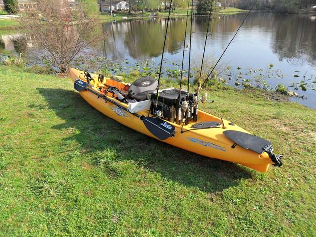 Your fishing kayak setups pics bass boats canoes for Fishing canoe setup