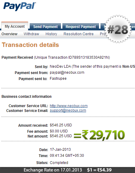 Neobux Payment Proof 28