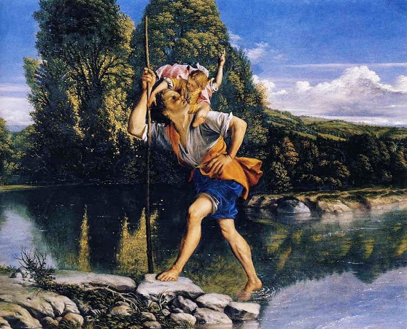 Orazio Gentileschi - Landscape with St Christopher
