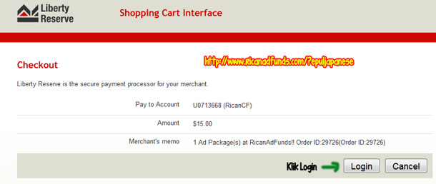 cara membeli Ad Pack RicanAdFunds