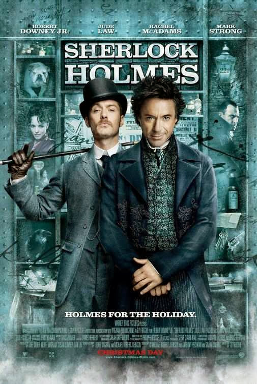 Poster Of Sherlock Holmes (2009) Full Movie Hindi Dubbed Free Download Watch Online At Alldownloads4u.Com