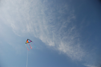 flying a kite, Traverse City