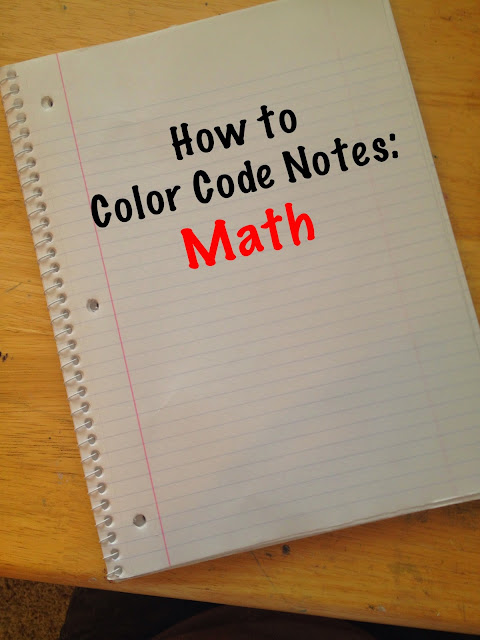how to color code notes math - Color Code Book