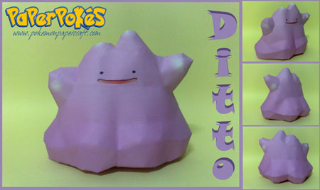 Pokemon Ditto Papercraft