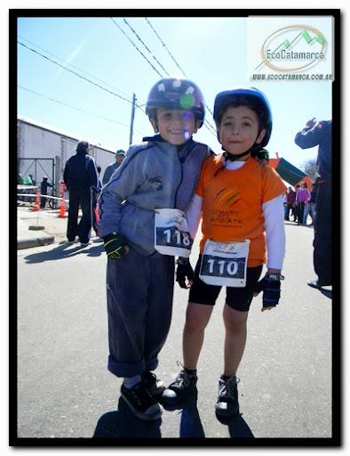 niños del duatlon de La Merced, Catamarca