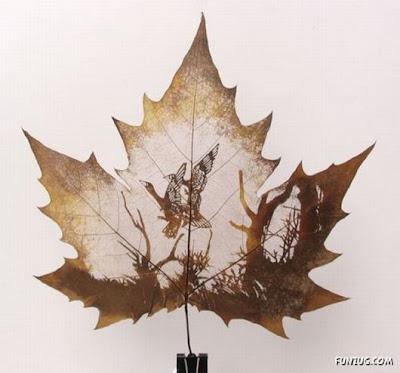 انقش صــورة تحــب الشجــر.. غاية الروعة leaf_painting_art_05