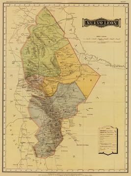 1858 And 1886 Maps Of Nuevo Leon Mexico We Are Cousins