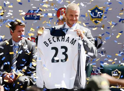 Beckham, L.A. Galaxy, number 23