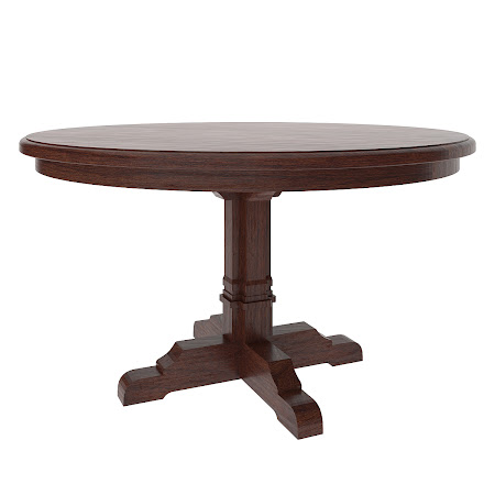 "42"" Parma Round Table in Cranberry Oak"