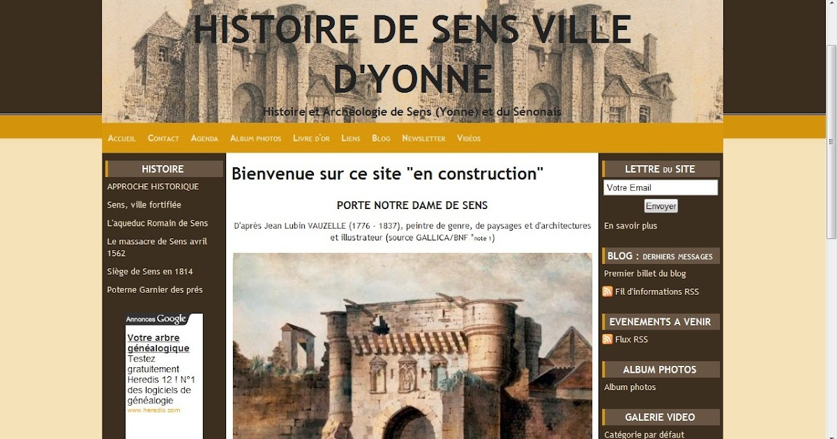 champigny sur yonne et senonais nouveau site histoire de sens ville d 39 yonne. Black Bedroom Furniture Sets. Home Design Ideas