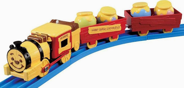 Hình ảnh Tầu hỏa Winnie the Pooh Honey Cargo Locomotive cần cù chăm chỉ chở những thùng mật ong