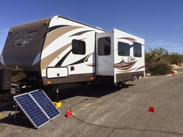 2015 Keystone Cougar 28RBS Joshua Tree Camping Solar boondocking