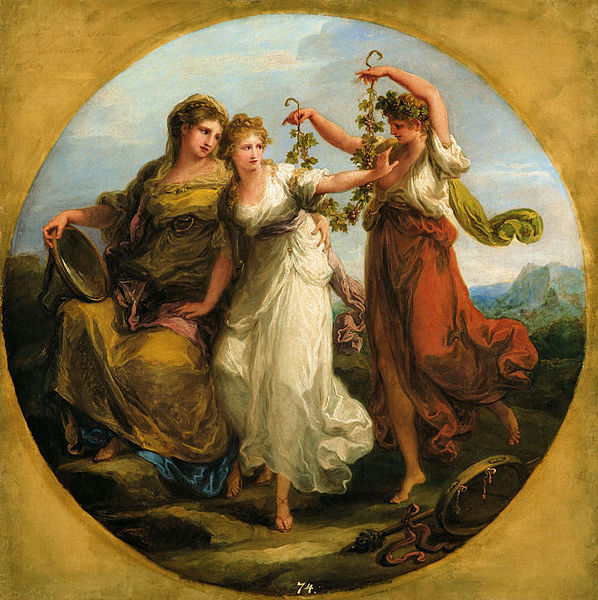 Angelica Kauffmann - Beauty Directed by Prudence Rejects with Scorn the Solicitations of Folly