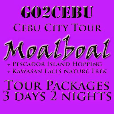 Cebu City + Moalboal + Pescador Island Hopping + Kawasan Falls Nature Trek in Cebu Tour Itinerary 3 Days 2 Nights Package