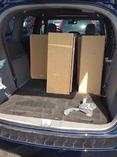 cabinets inside mini van trunk