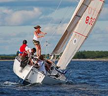 J/29 sailboat- sailing off Nova Scotia