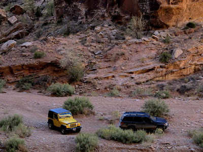 Our Jeeps parked in Black Dragon Wash