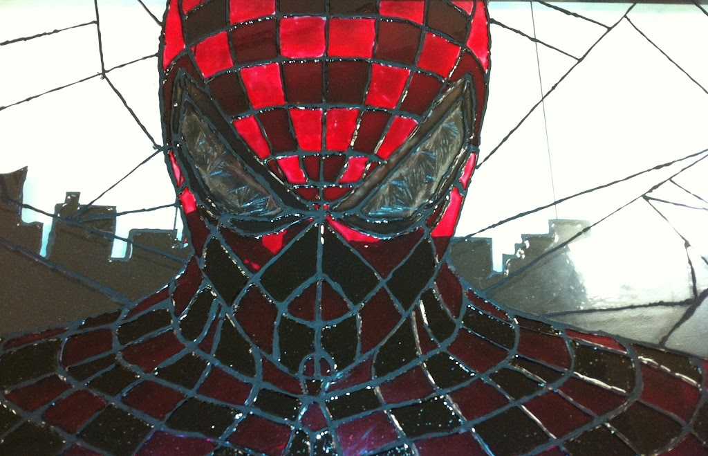Faux Stained Glass Spiderman Art Syn Shop