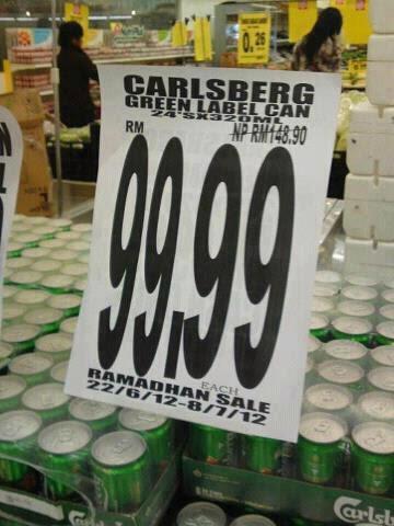 Pasaraya Buat Promosi Jual Arak Carlsberg
