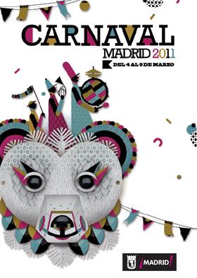 Pasacalles del carnaval 2011 en Madrid e inauguración