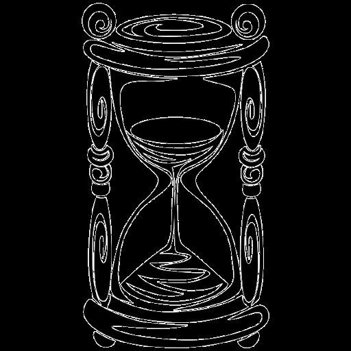Dibujo reloj de arena - Imagui