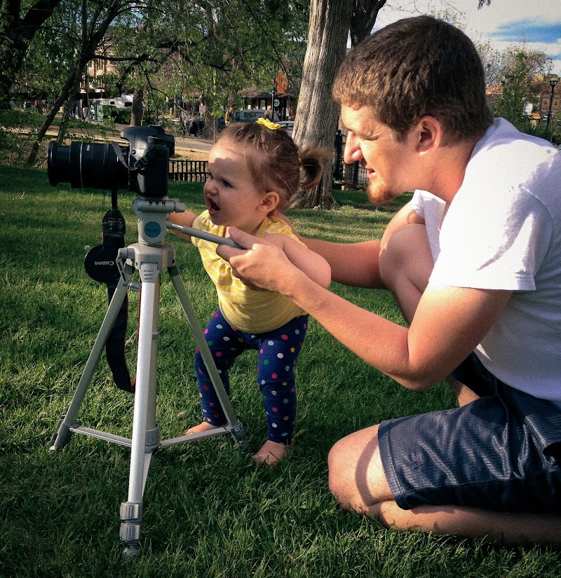 Teaching my daughter how to use a camera