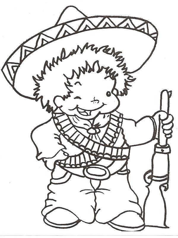為孩子們的著色頁 Vestuario Del 20 De Noviembre Revolución