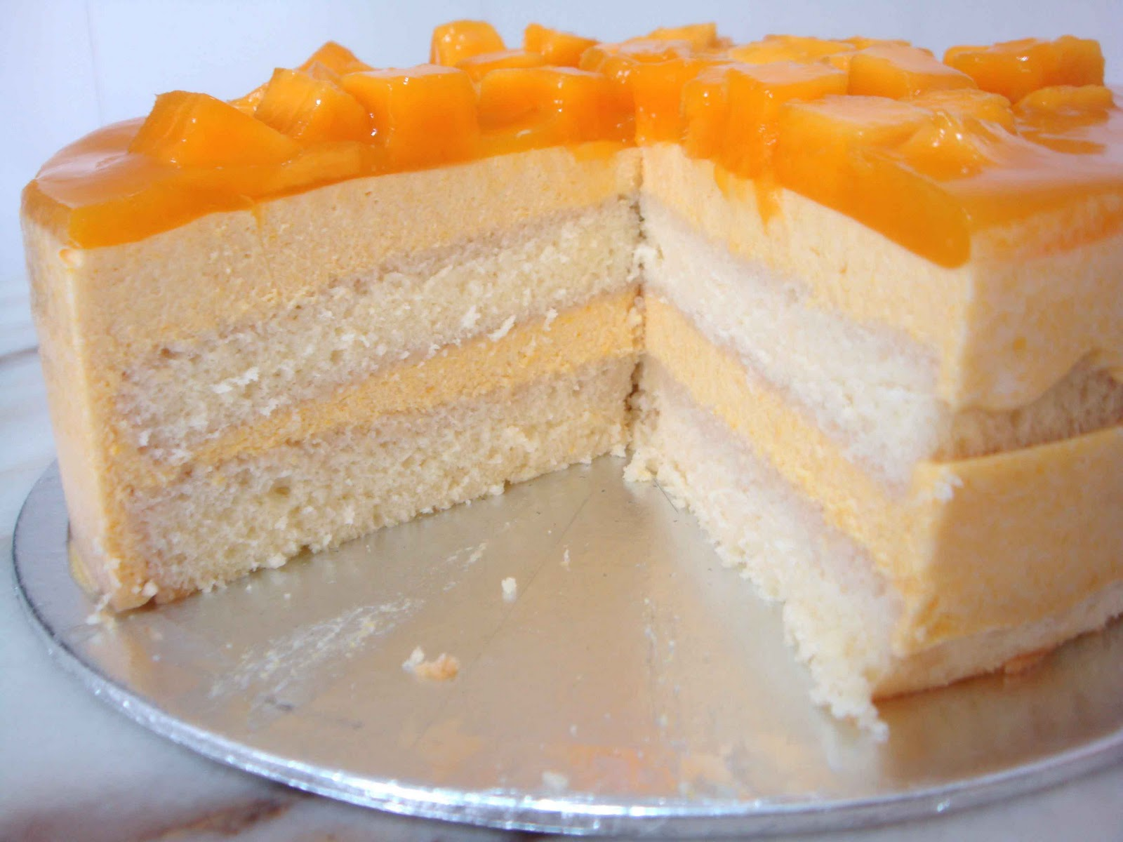 Japanese Mango Cake Recipe: Baking Library: My First Blog Award And Not-Quite-Mango