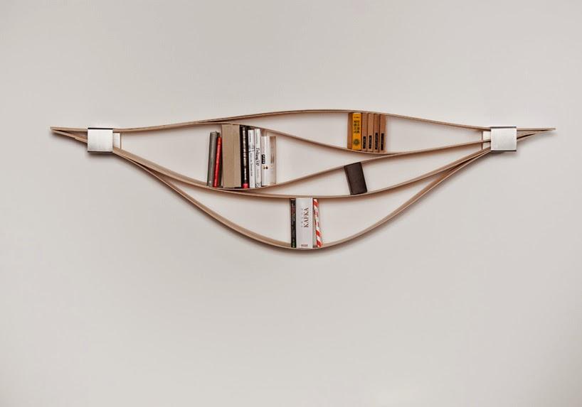 *想要一個不無聊的牆面:創意靈活的彈性木質書架! 3
