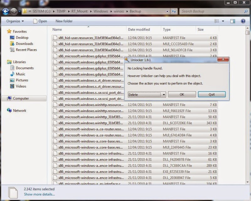 how to delete win 8 tmp files
