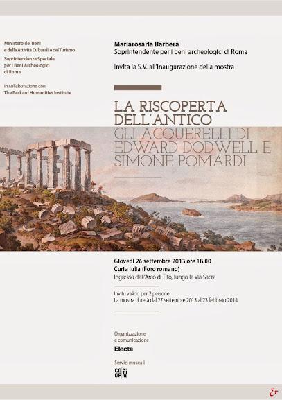 LA RISCOPERTA DELL'ANTICO GLI ACQUERELLI DI EDWARD DODWELL E SIMONE POMARDI