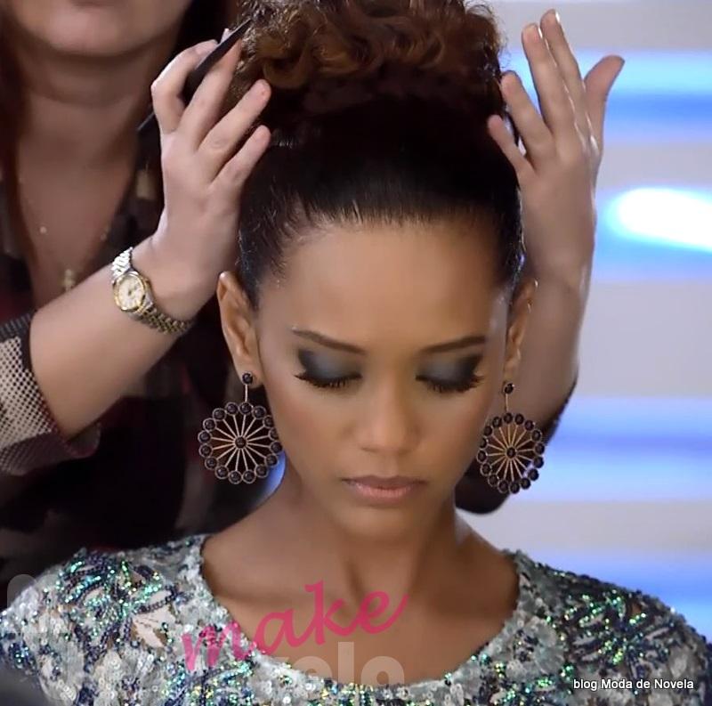moda da novela Geração Brasil, maquiagem da Verônica