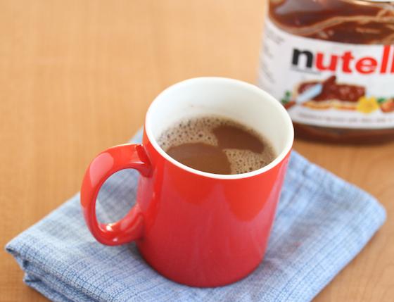 photo of a mug of Nutella Hot Chocolate