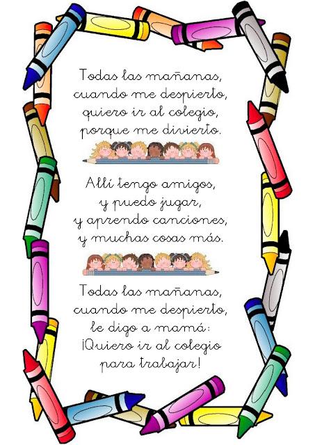 Poesias a mi colegio por su aniversario - Imagui