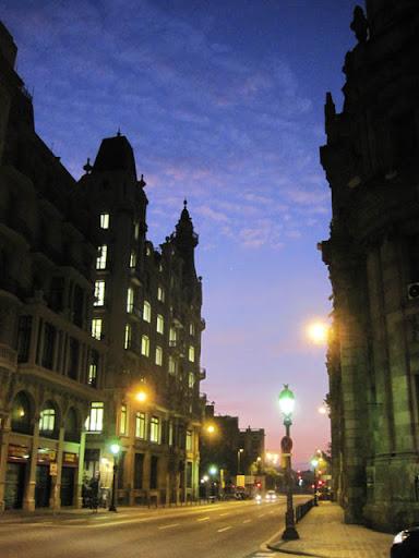 早朝のバルセロナ
