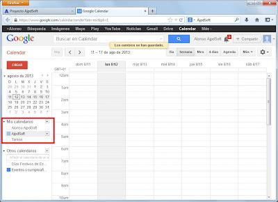 Crear calendarios adicionales en Google Calendar