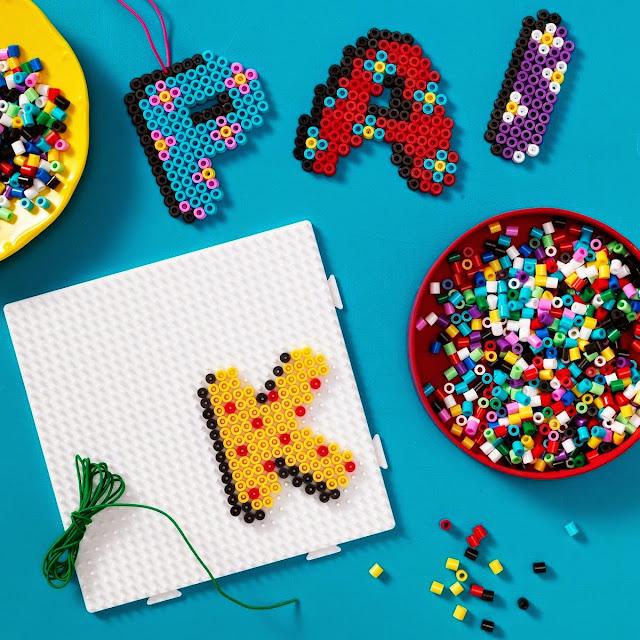 Khuôn hình vuông cỡ lớn giúp thỏa sức sáng tạo cùng bộ xếp hạt Chữ cái