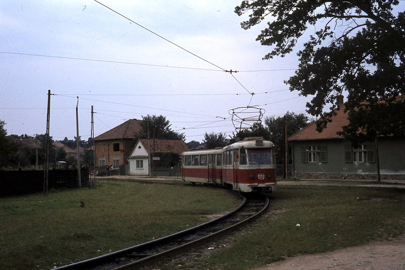 The only tram route in Sibiu - a suburban service to the small town of Rasinari.