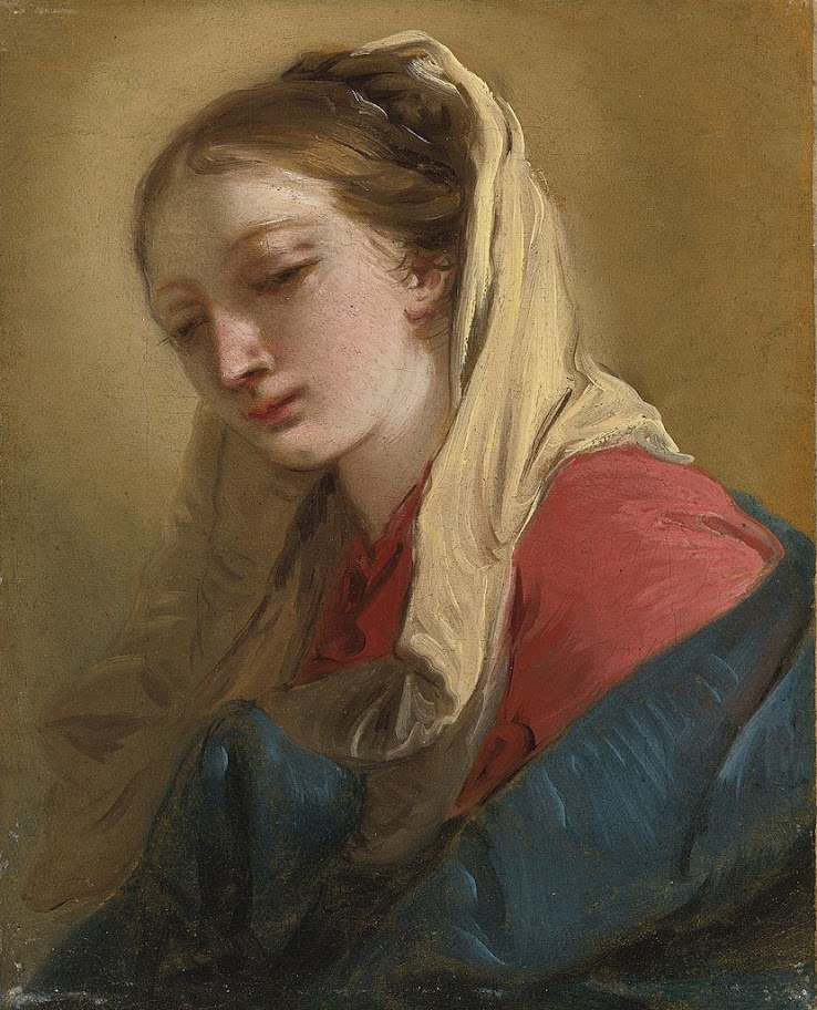 Giovanni Battista Tiepolo - Mary Magdalene veiled in white