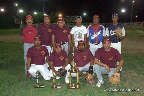 Equipo Dirección de Deportes del torneo de softbol de burócratas municipales