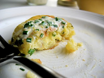 potato cake with fork