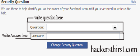 security question facebook