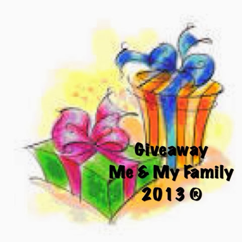 Giveaway Me & My Family 2013