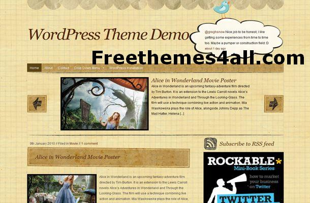Free WordPress Book Style Theme Template